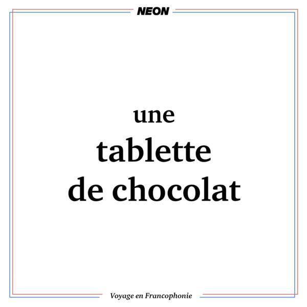 une tablette de chocolat