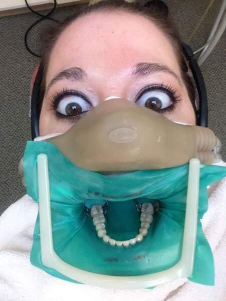 Le selfie chez le dentiste