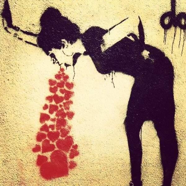 St Valentin, Banksy style