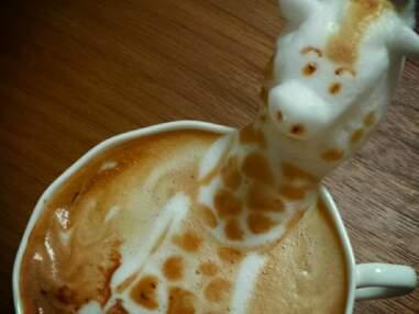 La crème du café : un artiste japonais donne vie à la crème de votre cappuccino