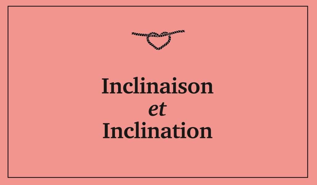 Inclinaison et inclination