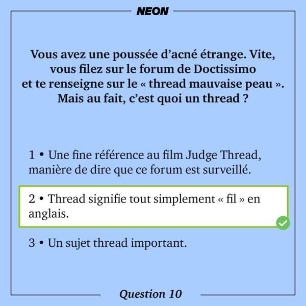 Réponse 10