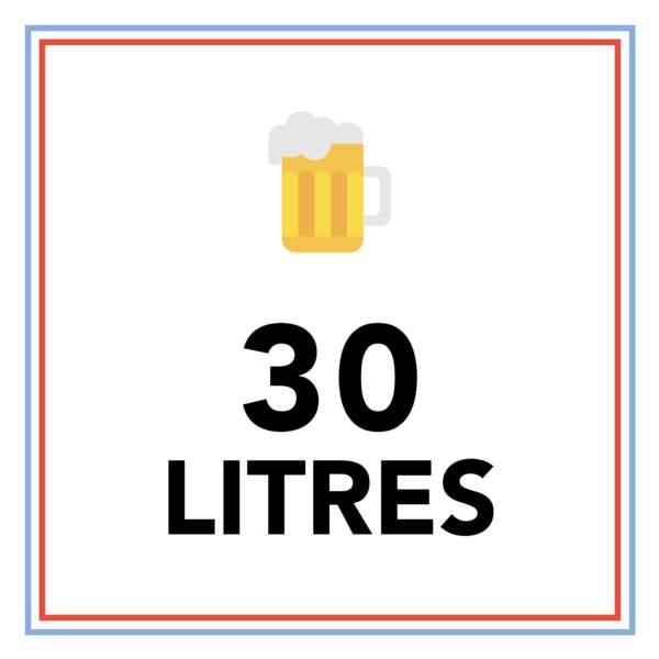 30 litres par an : c'est la consommation de bière moyenne d'un Français