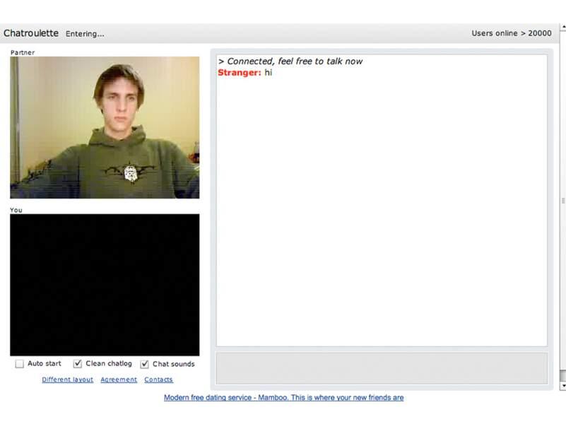 Chatroulette, au hasard des webcams