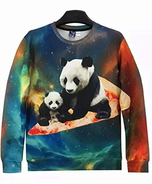 Un pull pizza panda