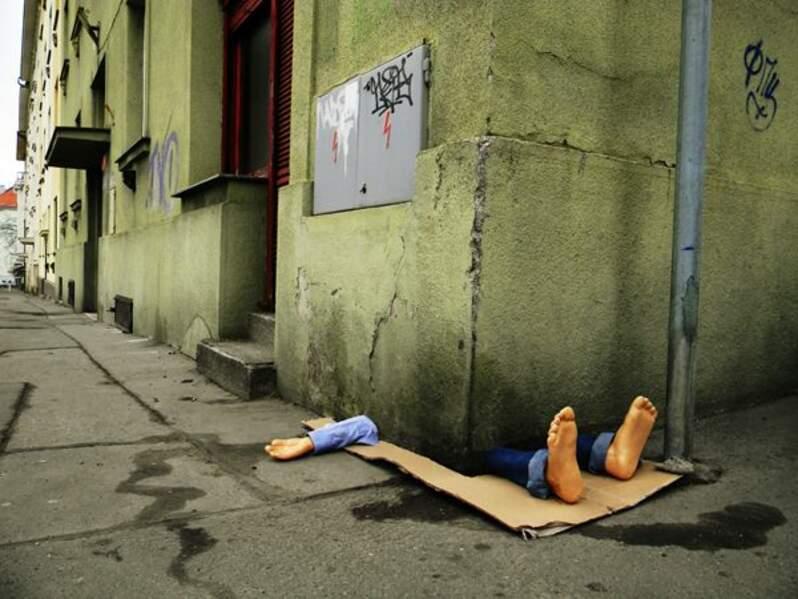 Dans les rues de Prague, par le street artiste Fra.Biancoshock