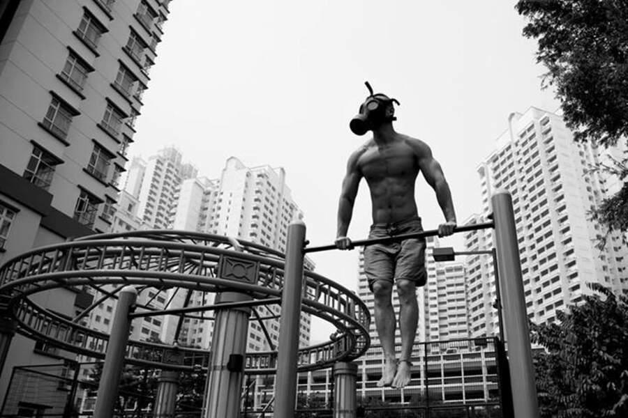 À Singapour, la pollution n'empêche pas de faire du sport