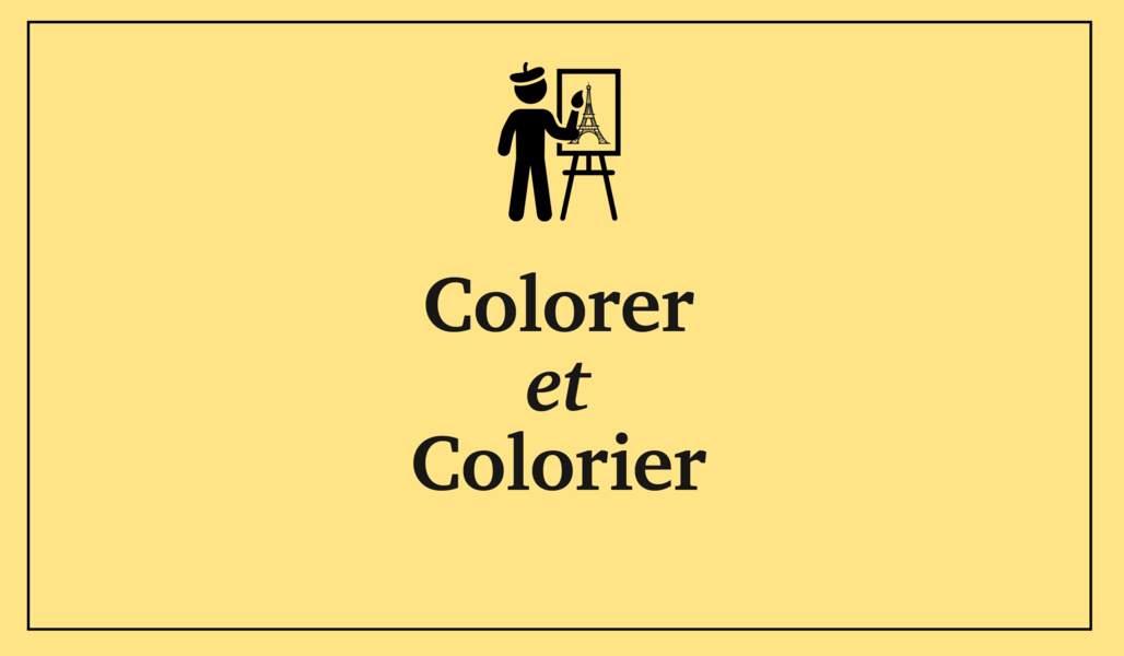 Colorer et colorier