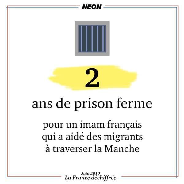 2 ans de prison ferme pour un imam français ayant aidé des migrants à traverser la Manche