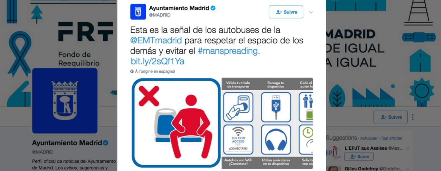 8 • Sensibiliser contre le manspreading et le harcèlement sexuel dans les transports en commun