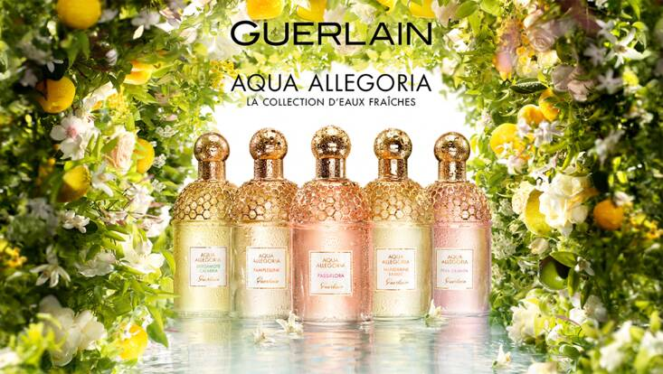 Aqua Allegoria, baignade en Eaux Fraîches avec Guerlain