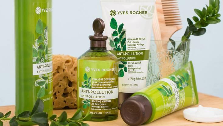 La nouvelle routine capillaire anti-pollution d'Yves Rocher
