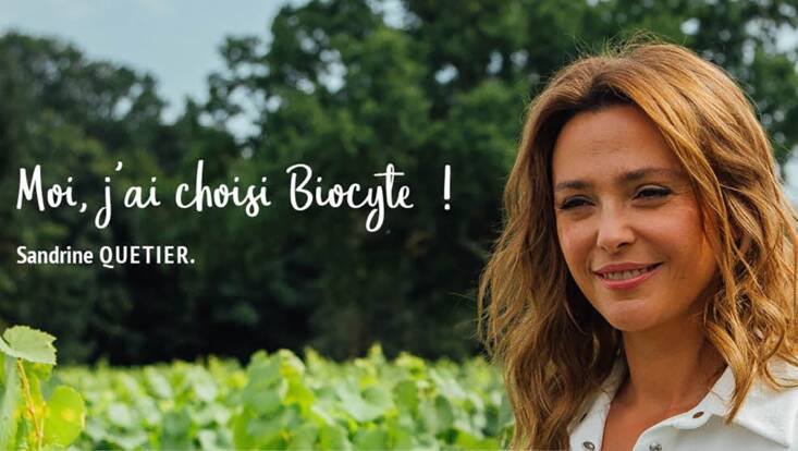 Sandrine Quétier devient ambassadrice Biocyte