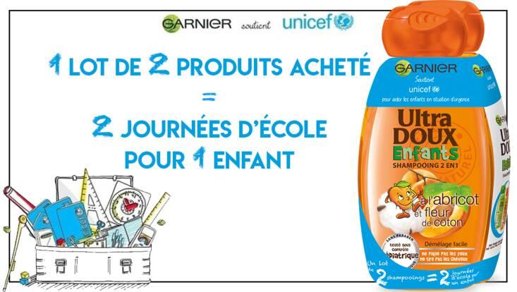Garnier s'engage aux côtés de l'UNICEF