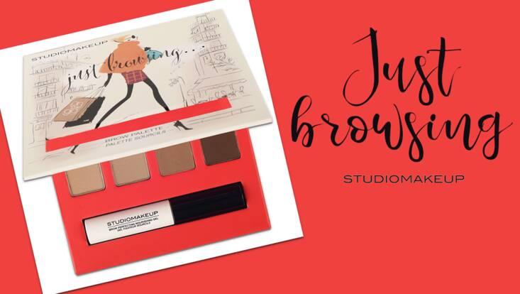 Des sourcils toujours parfaits avec Just Browsing, la nouvelle palette Studiomakeup