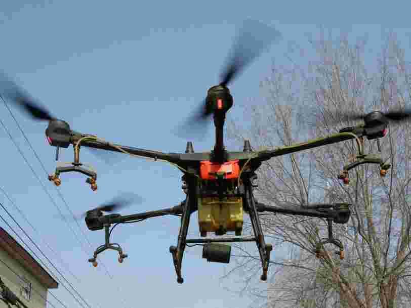 La police espagnole utilise des drones dans les lieux publics