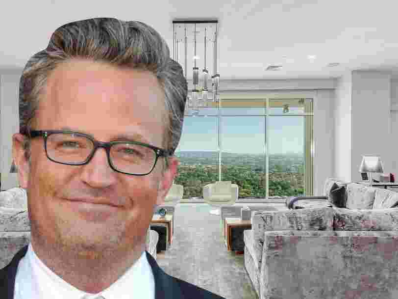 Voici à quoi ressemble le penthouse de Matthew Perry à Los Angeles, qu'il a mis en vente à 35 M$