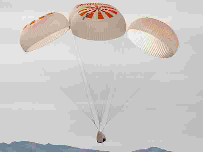 SpaceX a rencontré un problème en testant des parachutes qui seront utilisés pour un premier vol habité en mai