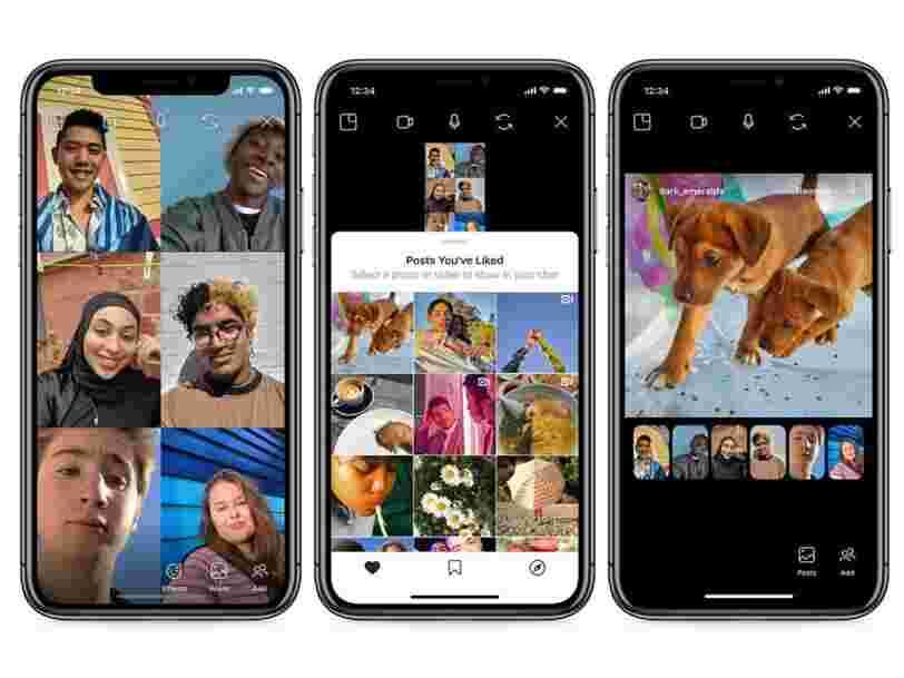 Instagram a lancé Co-Watching, une fonction pour partager des contenus avec ses amis lors d'un appel vidéo
