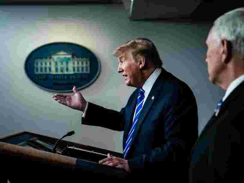 Donald Trump critiqué pour avoir suggéré de s'injecter du désinfectant pour combattre le coronavirus