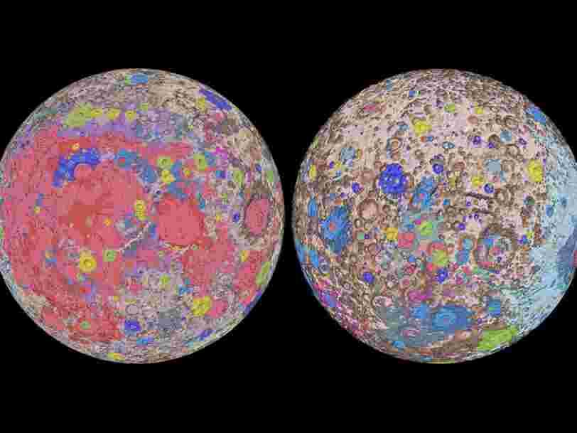 Cette carte hyper détaillée de la géologie de la Lune pourrait aider à prévoir les futurs alunissages
