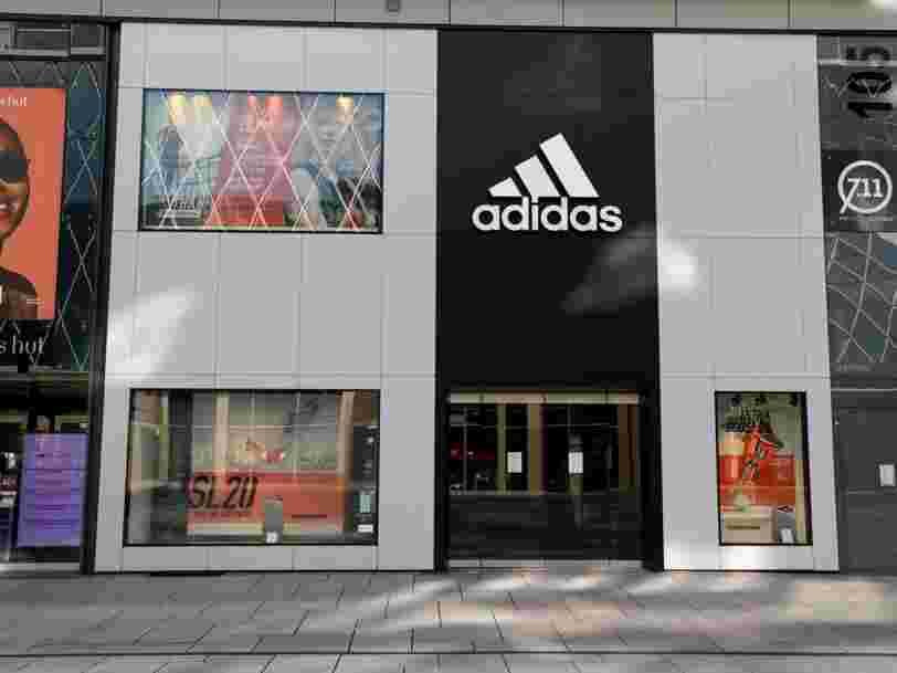 Adidas accélère dans l'e-commerce alors que 70 % de ses magasins dans le monde restent fermés