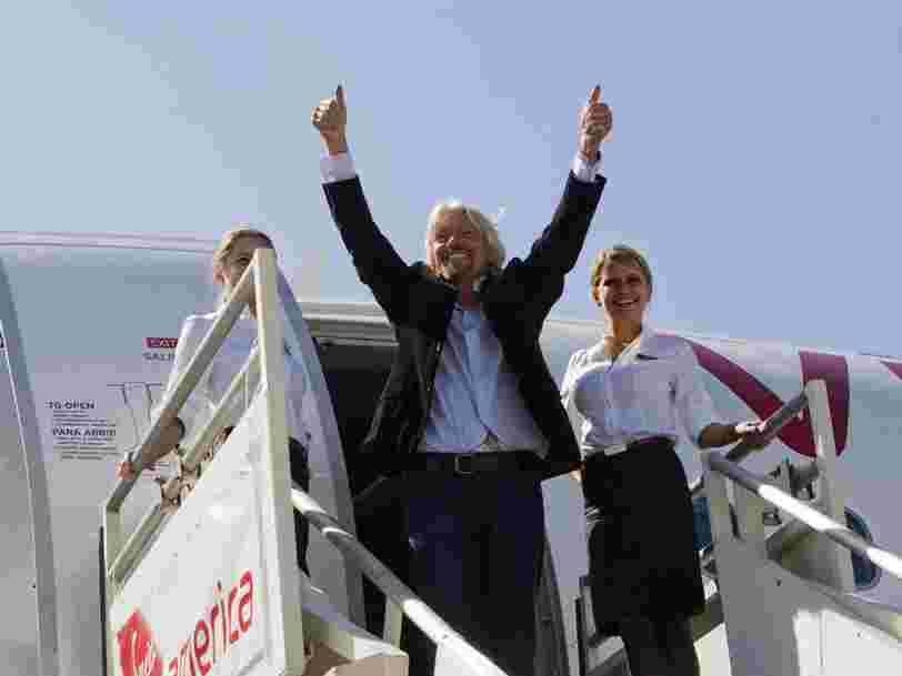 Richard Branson va vendre 500 M$ d'actions de Virgin Galactic pour sauver sa compagnie aérienne Virgin Atlantic
