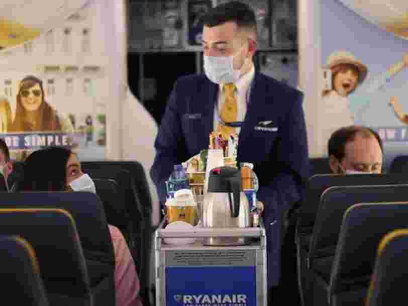 Ryanair prévoit d'effectuer 40% de ses vols à partir de juillet, mais les passagers devront demander la permission pour aller aux toilettes