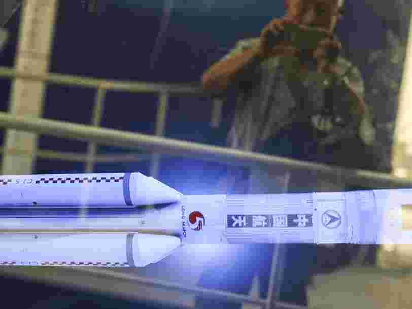 Le premier étage d'une fusée chinoise est retombé sur Terre dans une descente incontrôlée