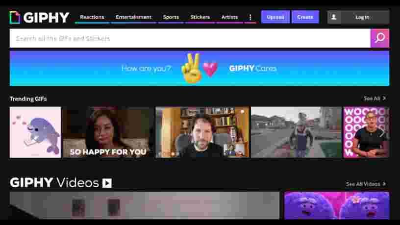 Facebook rachète la plateforme de GIFs Giphy pour 400M$