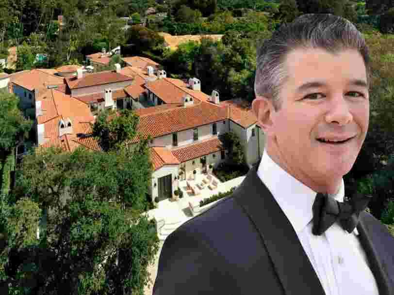 Voici à quoi ressemble le manoir à Los Angeles du cofondateur d'Uber Travis Kalanick, qu'il vient d'acheter pour 43 M$