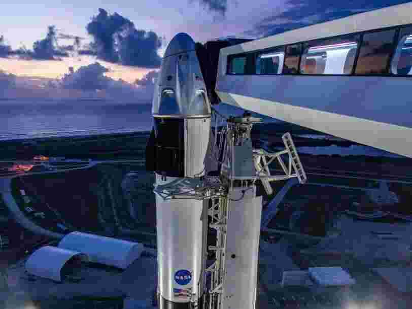 Un temps orageux pourrait faire échouer le lancement de la fusée de SpaceX