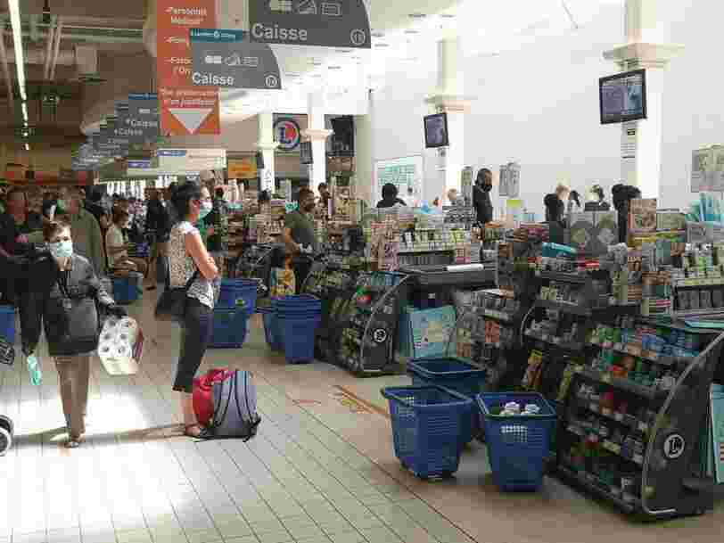 Les Français retrouvent les hypermarchés avec le déconfinement mais freinent sur leur panier moyen