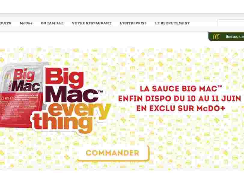 Vous allez pouvoir acheter la sauce Big Mac de McDonald's