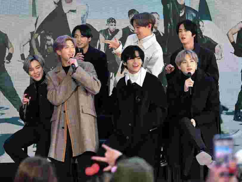 Le groupe BTS tweete depuis un iPhone alors qu'il a un partenariat avec Samsung