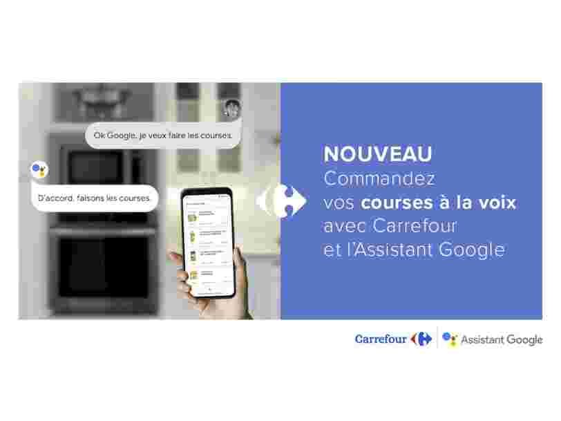 Vous pouvez désormais commander vos courses chez Carrefour directement via l'Assistant Google