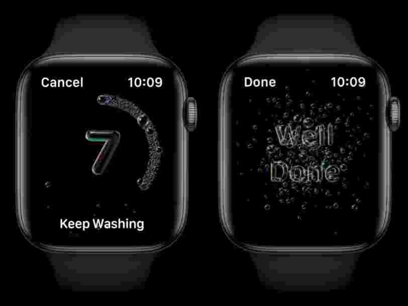 L'Apple Watch détectera si vous vous lavez les mains assez longtemps