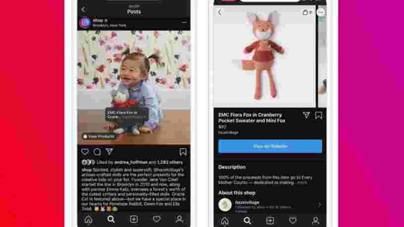 Les influenceurs — et à peu près tout le monde — pourront bientôt vendre des produits sur leur compte Instagram