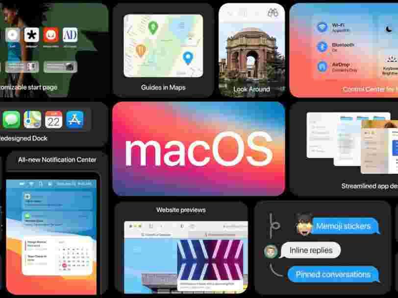 Apple vient de dévoiler la prochaine version de son logiciel Mac, macOS Big Sur