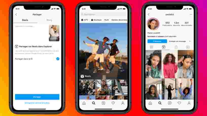 Voici comment utiliser Reels, le nouvel outil vidéo d'Instagram qui copie TikTok