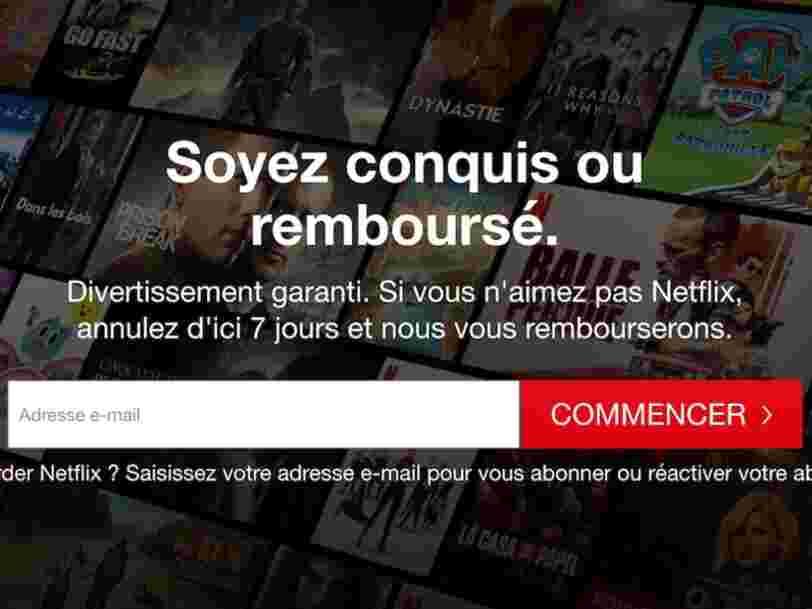 Remboursement, retour de la période d'essai... Netflix multiplie les offres pour les nouveaux abonnés