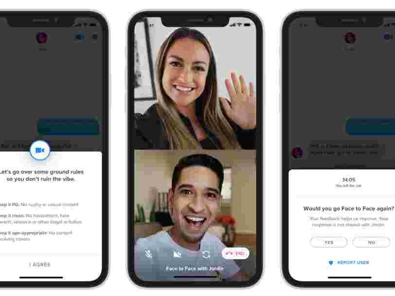 Tinder lance la fonction appels vidéo en France pour des rendez-vous virtuels