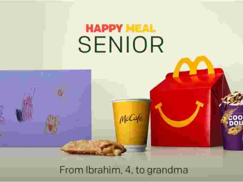 McDonald's lance un Happy Meal pour les seniors en Suède