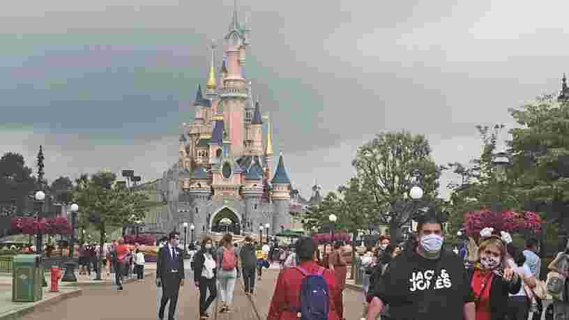 La journée de réouverture de Disneyland Paris en images