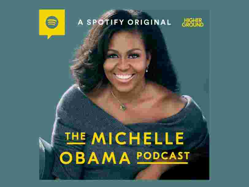 Spotify va lancer le premier podcast de Michelle Obama