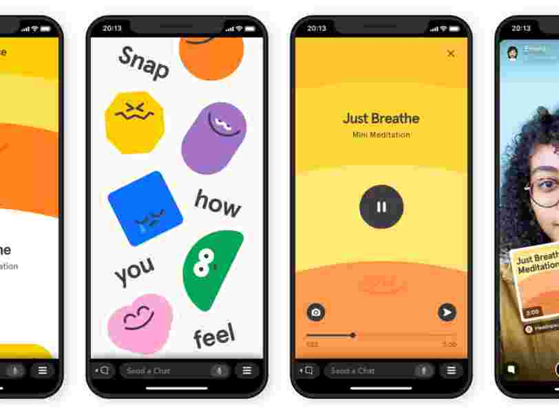 Snapchat lance les 'Minis', 4 nouvelles applications intégrées directement sur la plateforme