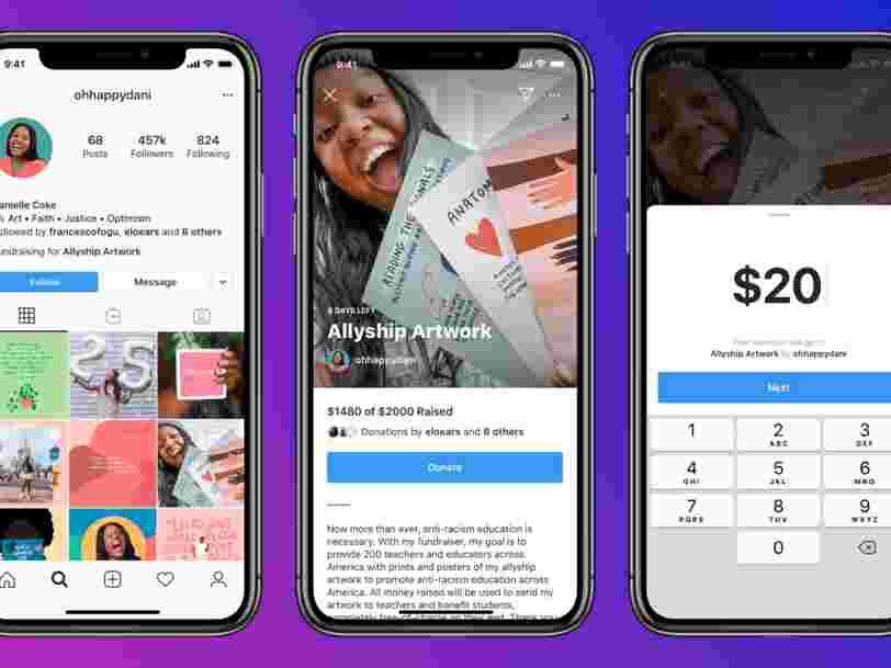 Instagram pourrait vous permettre de créer des cagnottes en ligne