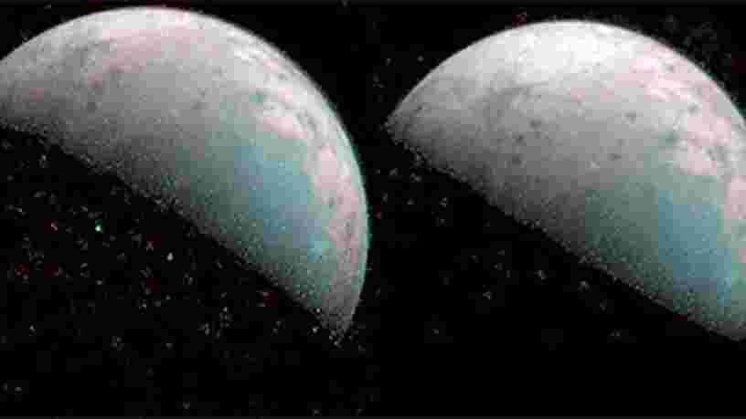 La NASA révèle les premières images du pôle Nord de la lune Ganymède