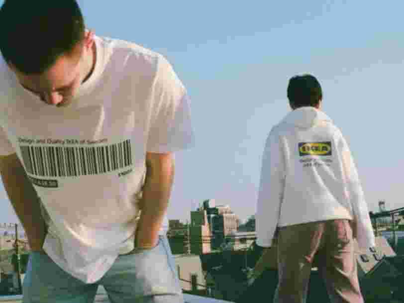 Ikea lance un sweat et un tshirt avec en motif le code-barre de sa bibliothèque Billy