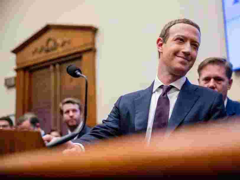 Mark Zuckerberg va dire au Congrès américain que les acquisitions de Facebook sont bonnes pour la concurrence